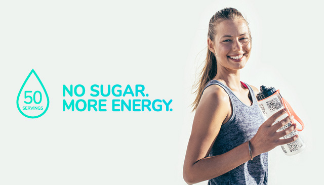 Skybright Performance Electrolytes. 50 servings per bottle. No sugar, more energy.